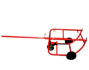 Vozík na přepravu sudů - 3 kolečka